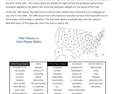 is california a title theory state